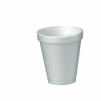 Dart 4J4 Foam Drink Cups, 4oz, 25 Per Bag Case of 40 Bags