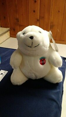 """Coca-Cola Polar Bear Plush 11 inches with Tags 1993 """"NEW"""" unused."""