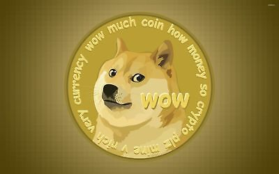 Dogecoin 50 DOGE coins virtual crypto currency good feedback