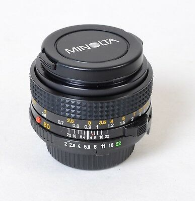 Minolta MD 50mm 1:2 Prime Lens Japan Pristine Conditions
