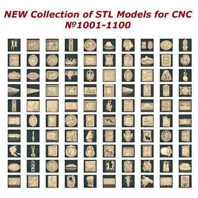№1001-1100 of 1100 - NEW Collection of STL Models for CNC Artcam Aspire