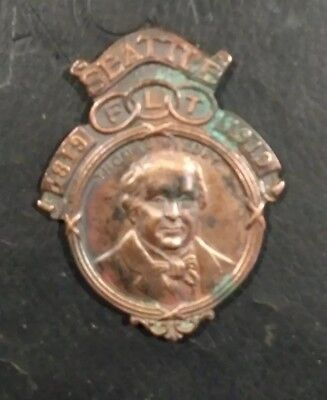 Independent order of odd fellows Medallion 1819 - 1919 Seattle F L T Wildey