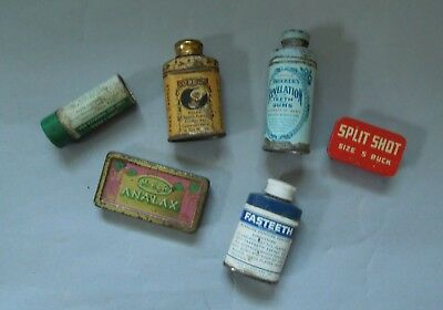Collection of Six Small Vintage Advertising Tins