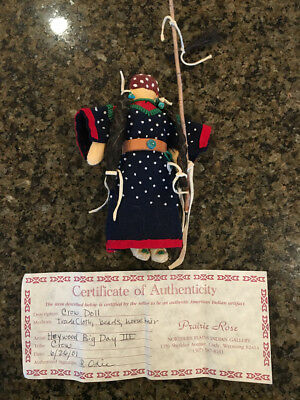 Primitive Crow Native Am. Doll by Heywood Big Day III (Like a Hopi Katchina)