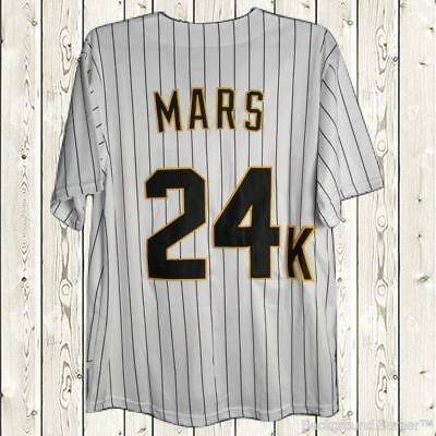 Bruno Mars #24K Hooligans Baseball Jersey Stitched BET Awards Short Sleeves Sewn