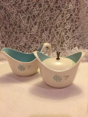 Covered Sugar Creamer 3 pc. Taylor Smith Taylor Ever Yours Boutonniere USA vtg