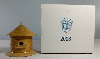 Uhl Collectors Society 2006 Birdhouse Wrenhouse Pottery with Box