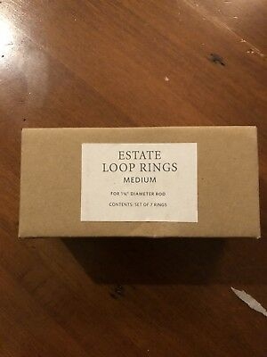 RH Restoration Hardware Antique Nickel Curtain Rings New in Box Medium