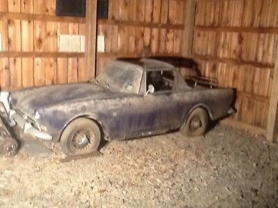 1966 Sunbeam Alpine blue fixer upper barn find