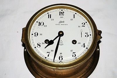 Vintage Schatz Royal Mariner Nautical ships bell clock