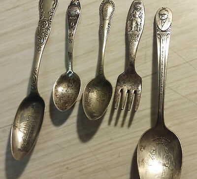 5 Pc Assorted Lot Of Vintage Silver Plated Items