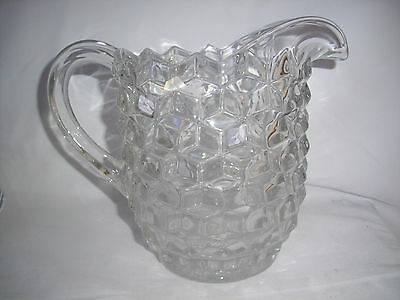 "VINTAGE FASTORIA AMERICAN Water Juice PITCHER LARGE 7 3/4"" Tall"