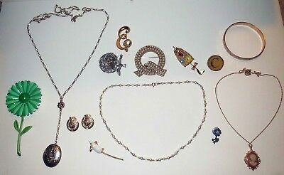 LARGE JEWELRY LOT Vintage & Antique DESIGNER TRIFARI COVENTRY CAMEO JEWELRY