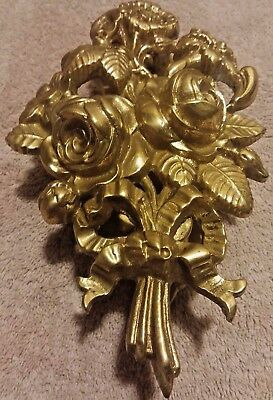 Vintage Victorian Style Brass Flower Arrangement Door Knocker Floral Bouquet 2Lb
