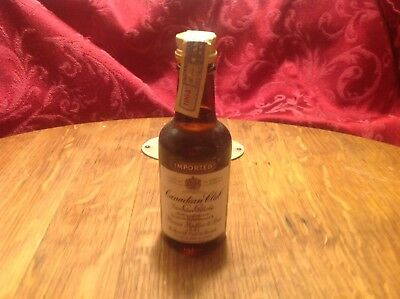 1964 Canadian Club Airline Bottle. Sealed W/Tax Stamp.