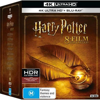 Harry Potter The Complete Collection 4K Ultra HD HDR Blu-ray BRAND NEW Region B