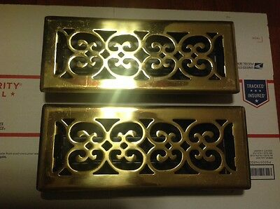 Brass heating vent scroll  covers for floor 2 items