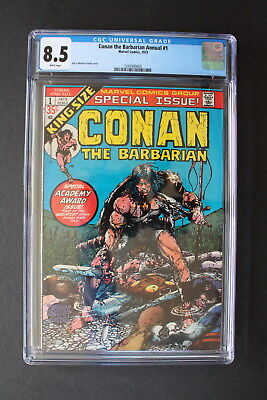 CONAN The Barbarian ANNUAL #1 Barry Windsor-Smith 1973 REH King Size CGC VF+ 8.5