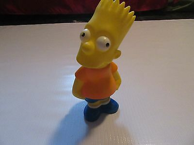 "Vintage 1990 Bart Simpson 9"" Coin Piggy Bank Matt Groening The Simpsons"