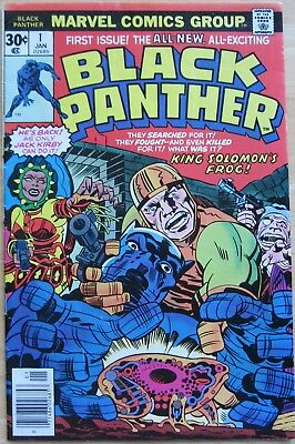 Black Panther #1 - Kirby Art - Mid grade comic with minor issues - 1977