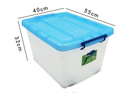 2/4 x 55L Large Plastic Storage Boxes with Lid - Containers