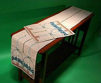 Arts and Crafts Table Runner French Art Nouveau by Rennie and Rose