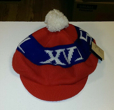 Vintage 1982 Super Bowl Xvi Knit Pom Hat Nos New Old Stock With Tags Nice Rare