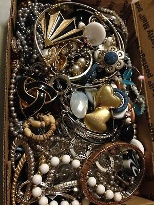 3 Pound Lot Of Vintage Jewelry For Wear Craft Repair Or Repurpose