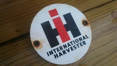 Vintage International Harvester Advertising Farm Tractor Parts Tag Metal Sign