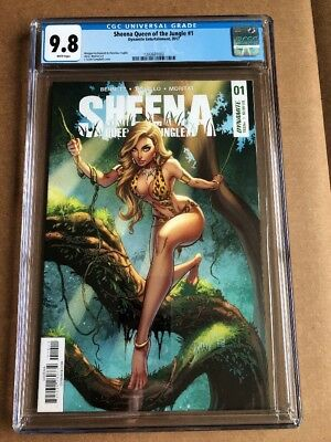 Sheena Queen Of The Jungle #1 (2017) Cgc 9.8 J Scott Campbell Cover