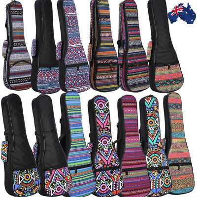 Ukulele Padded Gig Bag Concert Case Shoulder Backpack For 21-26'' Guitar Bag AU!