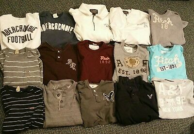 Lot of 15 used XL/L mens shirts abercrombie hollister american eagle