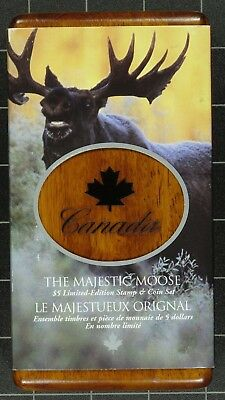 Weeda Canada 2004 Majestic Moose Stamp/Coin set, .9999 silver $5 coin, set #0777
