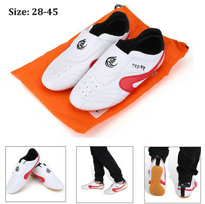 Adult Kids Kickboxing Taekwondo TKD Shoes Kung Fu Sneakers Trainers Tai Chi SS