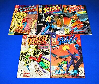 Lot of 5 JUSTICE SOCIETY OF AMERICA Issues 1, 2, 5 - 7 [DC 1991] VF+ or Better