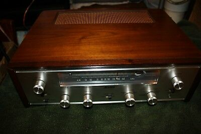 Vintage Allied 333 Stereo Vacuum Tube Receiver - Nice Shape - Wood Case - Japan