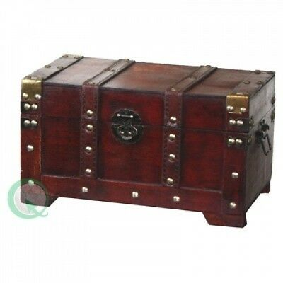 Quickway Imports Antique Style Wooden Small Trunk. Huge Saving