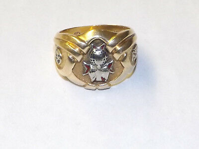 Vintage 4th Degree Knights Of Columbus 14K Ring Size 9 WEIGHS 11.8 GRAMS