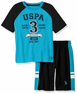 U.S. Polo Assn. Boys' Sleeve T-Shirt and Mesh Short Set