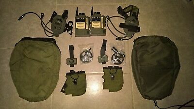 PAIR of AN PRC-343 DUAL Personal Role Radio set Bowman Marconi Selex H4855