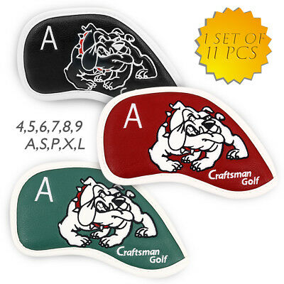 Leatherette 11pcs 3#-Lw Golf Iron Wedge Cover Headcovers for Taylormade Callaway