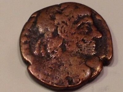 Authentic small ancient Roman Emperor? w/ figures on back coin good detail SF37