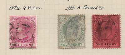 Lagos 3 Old stamps Used Hinged