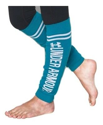 Under Armour UA Girls Sport Leg Warmers Lot of 2 Turquoise Gray Youth One Size