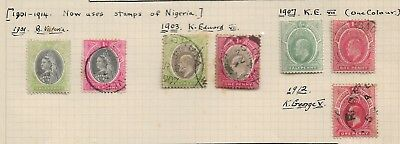 Southern Nigeria Old stamps 2 Mint Hinged 5 Used Hinged