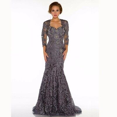 PLUS SIZE LACE Mother Of The Bride Dress With Jacket Mermaid Evening ...