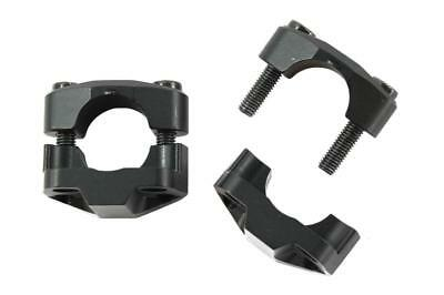 Black Handlebar adapter from 22mm to 28mm plate with fixed support Magura motorc