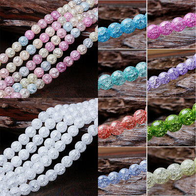 Glass Beads Craft Tool  Crystal Beads Gift Fashion Round Beads Makings 8MM