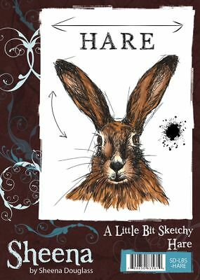 New Sheena Douglass Little Bit Sketchy Unmounted Rubber Stamp Hare