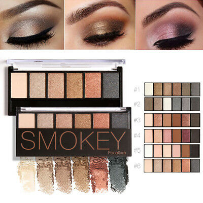 Paleta sombras 6 colores Glamorous Eye Shadow Shimmer Colors Maquillaje colores